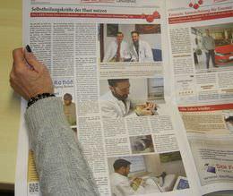Zeitungsbericht zum Medizinischen Microneedling